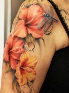 3D Blumen Libellen Tattoo                                                                                                                                                                                 Mehr