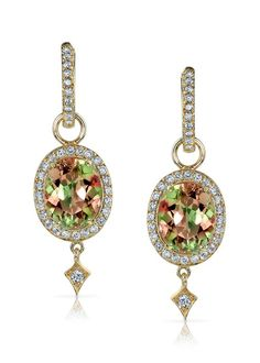 Zultanite and Diamond Earrings by Rhonda Faber Green
