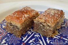 Baclava turceasca reteta cu nuca   Savori Urbane Romanian Desserts, Romanian Food, Romanian Recipes, Oriental Food, Cheesecakes, Meatloaf, Banana Bread, Sweets, Vegan