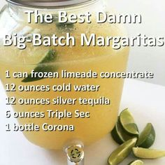 Best Damn Big-Batch Margaritas