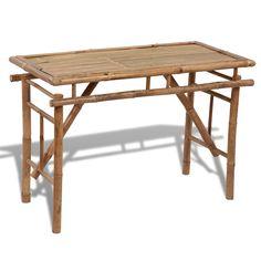 Picknicktisch aus Bambus zusammenklappbar