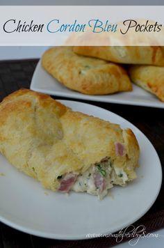 Chicken Cordon Bleu Pockets Recipe