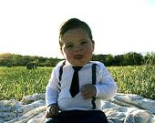 Boy Birthday Outfit - Boy First Birthday - Boy Photo Prop - Vintage Tie and Suspenders Outfit - Black and Gray - Working Man