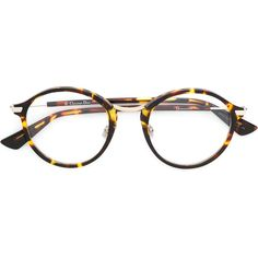 bb349065dd79 Dior Eyewear round frame tortoiseshell glasses ( 425) ❤ liked on Polyvore  featuring accessories