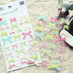 Funny Korea genuine DIY essential albums | Mobile | dimensional decorative stickers felt bow - Taobao