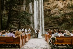 Amazing outdoor wedding venue – waterfall at Toccoa Falls, Georgia - Wedding Venues Unique Wedding Venues, Outdoor Wedding Venues, Indoor Wedding, Wedding Ceremony, Wedding Ideas, Wedding Planning, Wedding Inspiration, Ceremony Backdrop, Church Wedding