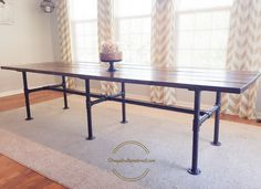 A DIY Industrial Farmhouse Table For 10