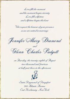 Jennifer and Glenn #Ecru #WeddingInvitation @foreverfriends_ created. #Nautical #Wedding #Invitations http://foreverfriendsfinestationeryandfavors.com