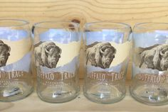 Check out this item in my Etsy shop https://www.etsy.com/listing/239530554/buffalo-trace-tumbler-glasses