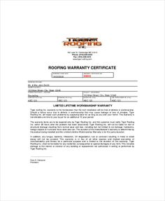 warranty certificate template free word pdf documents download sample birth letter marathi cover