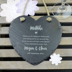 With weddings being such a special day, attention to detail is a must. From the dress to the cake, food to location, everything needs to be romantic perfection. Our slate hearts are the perfect Bridesmaid gift, filling the gap that pearl bracelets and diamond-style earrings left behind many years ago. Made from high-quality slate and appropriately heart-shaped, it is the hand-crafted etching that makes these such a thoughtful thank-you gift. Thoughtful, sincere and touching, this…