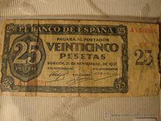BILLETE de 25 Pesetas Burgos 1936 Escaso