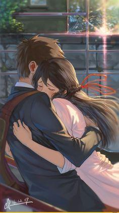 Kimi no Na wa. La mejor pelicula❤, Kimi no Na wa. La mejor pelicula❤ Kimi no Na wa. Manga Anime, Film Anime, Fanarts Anime, Anime Characters, Cosplay Anime, Anime Pokemon, Kawaii Anime, Anime Naruto, Anime Love Couple