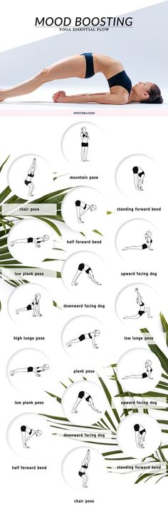 Beat stress and get happy with these mood-boosting yoga poses. A 16 minute essential flow to help you shake off any anxiety or frustration, and create a more stable sense of calm. www.spotebi.com/...