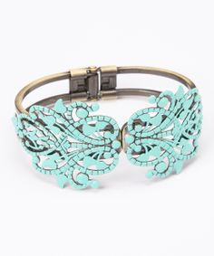 Aqua Piper Hinged Bangle