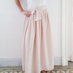 Pastel women's sewing pattern – long high waist skirt, to tie – ………. Skirt Pattern Free, Skirt Patterns Sewing, Skirt Sewing, Pattern Sewing, Pastel Skirt, Make Your Own Clothes, Long Skirts For Women, Couture Sewing, Sewing Clothes