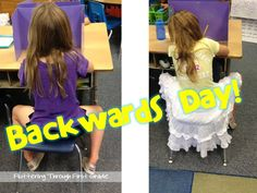 BACKWARDS DAY!!!!!   for Friday!