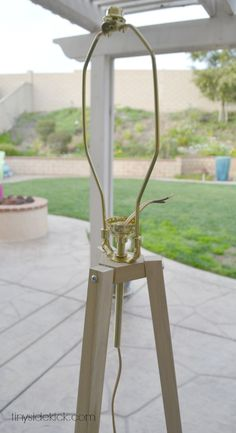 West Elm Inspired Tripod Floor Lamp {Knock Off Decor Series}