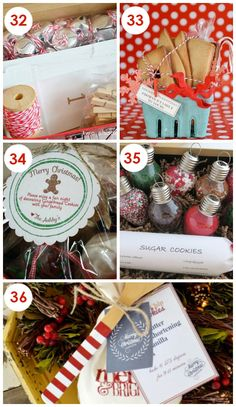 LOVE the idea of a giving friends a Christmas kit... #35 is perfect!