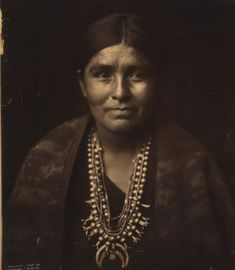 Navajo Woman with Squash Blossom Necklace