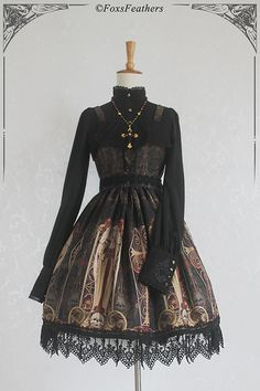 --> For Gothic lovers: Fox Feather ✙✞~Death Angel~✞✙ Gothic Lolita JSK --> Save 16USD during the pre-order. --> Learn More >>> http://www.my-lolita-dress.com/fox-feather-death-angel-gothic-lolita-jumper-dress-ff-1