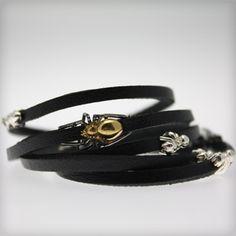 Spiders and flies wrap bracelet Tomasz Donocik Mens Jewellery