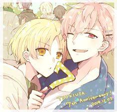 Twitter Tsukiuta The Animation, Anime Films, Anime Couples, Cool Art, Geek Stuff, Handsome, Manga, Cute, Idol