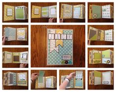 Scrapbook mini album using Echo Park Bundle of Joy collection
