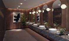 Showroom Interior Design, Gym Interior, Restaurant Interior Design, Modern Interior Design, Wc Design, Toilet Design, Washroom Design, Bathroom Design Luxury, Wc Public