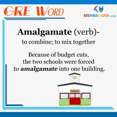 #GREWord #GRE  Via MSMBAinUSA Word Of The Day, New Words, Budgeting, Two By Two, How To Get, Learning, School, Word A Day, Studying