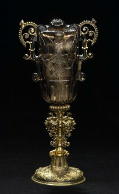 Smoky-quartz goblet, Ottavio Miseroni, Dionysio Miseroni and Master HC, Prague, c. 1620-1628 and Vienna,