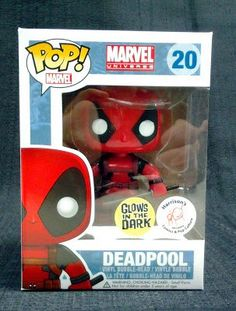 Funko POP Marvel Deadpool Bobble Figure (Exclusive Glow in the Dark) http://popvinyl.net #funko #funkopop #popvinyls