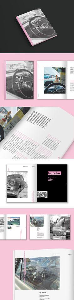 Make & Model Book Design on Behance
