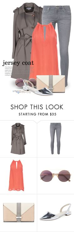 """Jersey Coat 3160"" by boxthoughts ❤ liked on Polyvore featuring Escada Sport, AG Adriano Goldschmied, BB Dakota, Sunday Somewhere, Nine West, Elorie and contestentry"