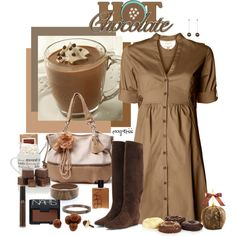 """""""The Hot Chocolate Set"""" by exxpress on Polyvore"""