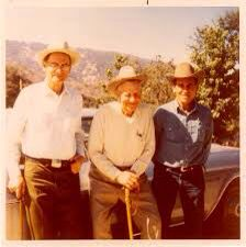 Bill Tom and their dad! This was taken in my front yard!!!!!!!!!!