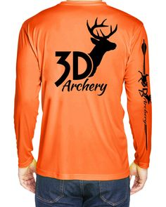 Archery microfiber bow hunting long sleeve t shirt uv safety orange Casual Tops, Casual Shirts, 3d Archery, 3d T Shirts, Bow Hunting, Short Sleeve Tee, Graphic Tees, Safety, Orange