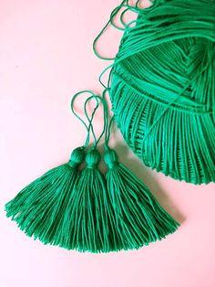10 pcs Green Tassel CottonTassels Jewelry Making DIY Craft
