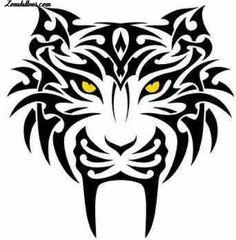 Design of Tigers, Animals, Tribal, Tribal Tattoos, Leo Tattoos, Body Art Tattoos, Maori Tattoos, Ta Moko Tattoo, Tiger Tattoo, Tattoo Stencils, Stencil Art, Tiger Stencil