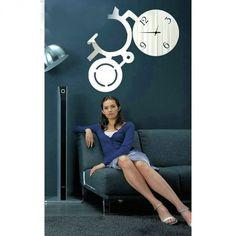 zrkadlové  hodiny zrcadlové, wall mirror clock, spiegeltakt, zegar lustro