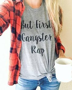 But First, Gangster Rap Unisex Triblend Tee - Saturday Morning Pancakes