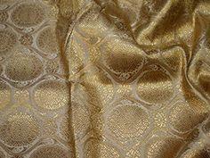 Home Décor Champagne Brocade Wedding Dress Banarasi Art Silk Sewing Curtains Brocade No Sew Curtains, Hand Sewing, Fabric Sewing, Fabric Names, Indian Fabric, Concept Home, Brocade Fabric, Sewing Accessories, Sewing Stores