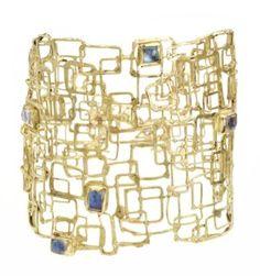 Judy Geib Asteroid Bracelet; 18k gold and ceylon moonstones