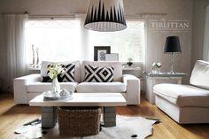 DIY lamp - using IKEA lampshade by Lilla Tirlittan blogger Katja.