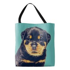 #Rottweiler Puppy- Customizable Tote Bag - #rottweiler #puppy #rottweilers #dog #dogs #pet #pets #cute