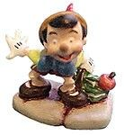 WDCC Disney Classics Pinocchio Miniature #WDCCDisneyClassics #Art. Miniature: Bronze, hand-painted. Pinocchio miniature was released as part of the Enchanted Places. The Enchanted Places were backgrounds, settings, ornaments, accessories and/or miniatures.