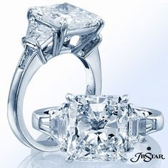 Spring into love with this stunning radiant-cut diamond engagement ring!