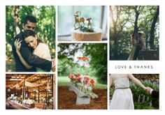 Make an impression with these wedding thank you cards that capture highlights from your big day.