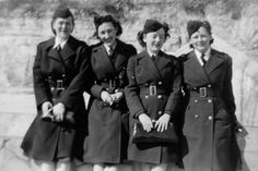 U.S. Army Nurse Corps nurses (from left) Mary Henehan, Ellen Ainsworth, Anne Graves and Doris Maxfield were photographed in New York City in April 1943. They shipped out later that month, landing in Morocco before eventually joining forces in Italy ~