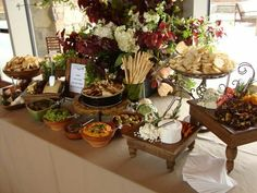 Cheese table for wedding/bridal shower. Love the colors and flavors, as well as the arrangement.